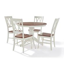 SHELBY 5PC ROUND DINING SET