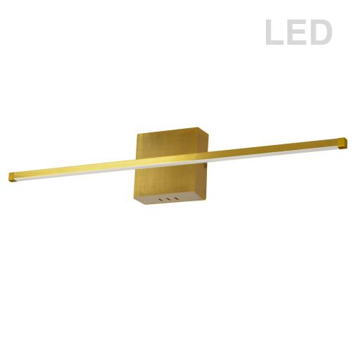 30w Wall Sconce Agb W/wh Acrylic Diffuser