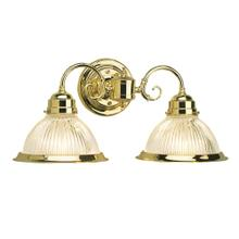 Millbridge 2-Light Polished Brass Wall Mount Sconce #503029