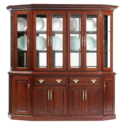"""See Details - 89"""" Queen Victoria Canted Hutch & Buffet"""