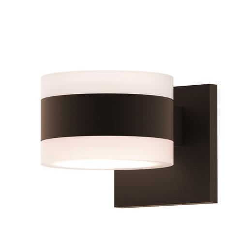 Sonneman - A Way of Light - REALS® Up/Down LED Sconce [Color/Finish=Textured Bronze, Lens Type=White Cylinder Lenses]