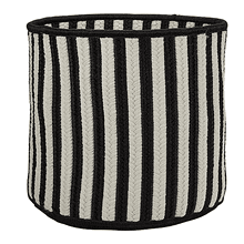 "Baja Stripe Basket BJ03 Black 12"" X 10"""