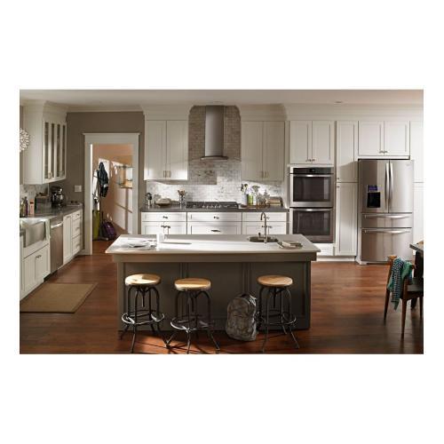 Amana Canada - 36 inch Glass Island Kitchen Hood with Glass Edge LED Lighting