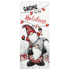 Gnome for the Holidays Wall Plaque