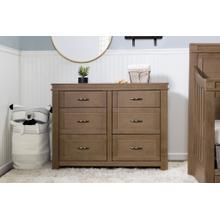 Stablewood Wesley Farmhouse 6-Drawer Assembled Double Dresser