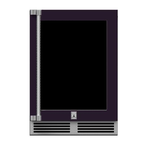 "24"" Hestan Outdoor Dual Zone Refrigerator with Wine Storage (UV-Coated Glass Door) - GRWG Series - Lush"