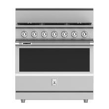 "See Details - 36"" 5-Burner Dual Fuel Range - KRD Series - Steeletto"