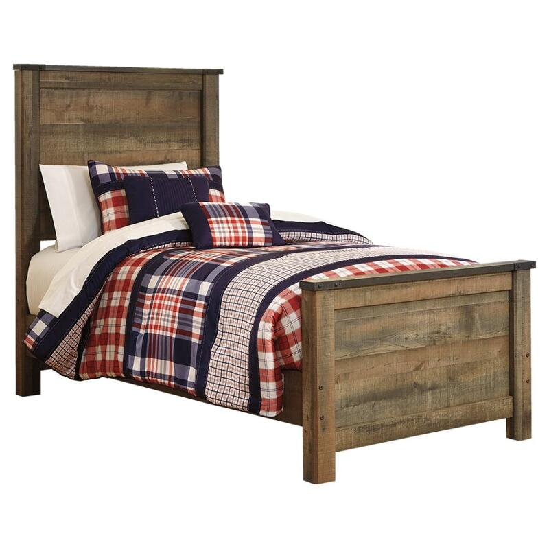View Product - Trinell Twin Panel Bed With Mattress