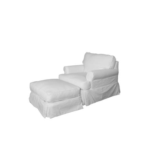 Horizon Slipcovered Chair - Color: 423080