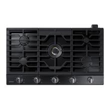 "36"" Smart Gas Cooktop with 22K BTU Dual Power Burner in Black Stainless Steel"