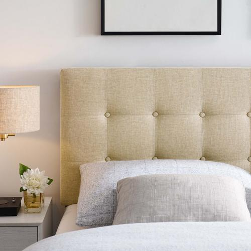 Modway - Emily Full Upholstered Fabric Headboard in Beige