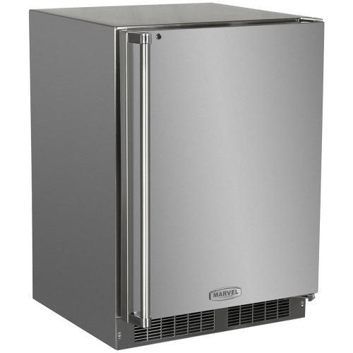 24-In Outdoor Built-In Refrigerator Freezer with Door Swing - Right