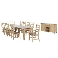 See Details - Brook Extendable Dining Set (12 piece)