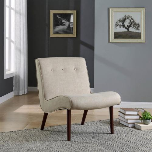 Alexis Fabric Chair, Flax