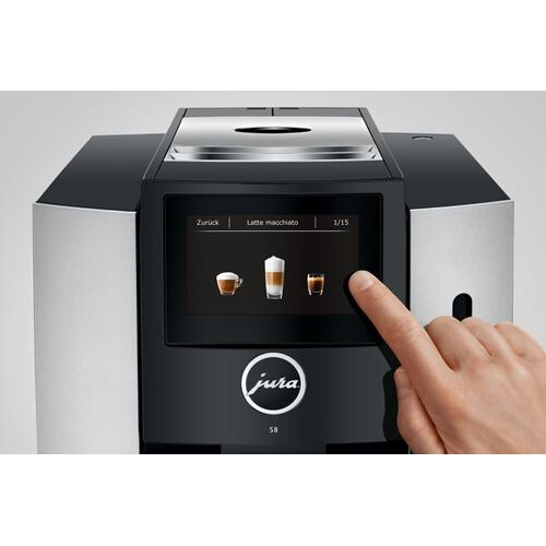 Jura - Automatic Coffee Machine, S8, Moonlight Silver