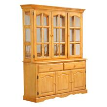 Treasure Buffet and Lighted Hutch - Light Oak