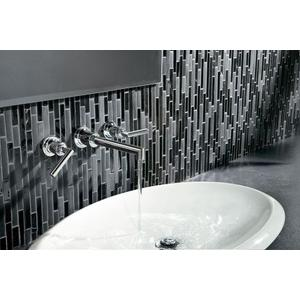 Arris chrome two-handle wall mount bathroom faucet