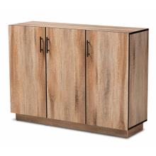 See Details - Baxton Studio Patton Modern and Contemporary Natural Oak Finished Wood 3-Door Dining Room Sideboard Buffet