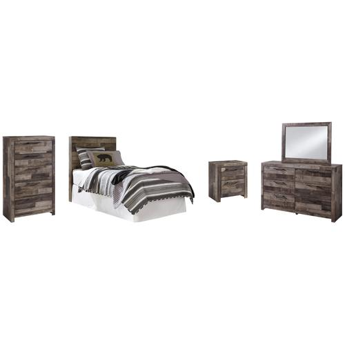 Ashley - Twin Panel Headboard With Mirrored Dresser, Chest and Nightstand