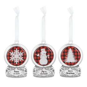 Snow Globe Spinning Ornaments (6 pc. ppk.)