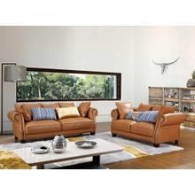 Divani Casa 4553 - Transitional Beige Italian Leather Sofa Set