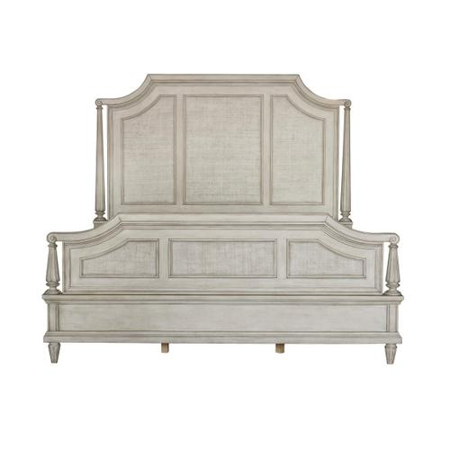 Campbell Street King / California King Panel Headboard in Vanilla Cream