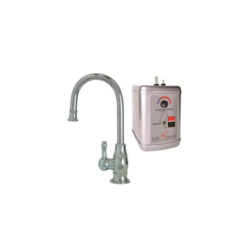 Mountain Plumbing - Hot Water Faucet with Traditional Curved Body & Curved Handle & Little Gourmet® Premium Hot Water Tank - Champagne Bronze
