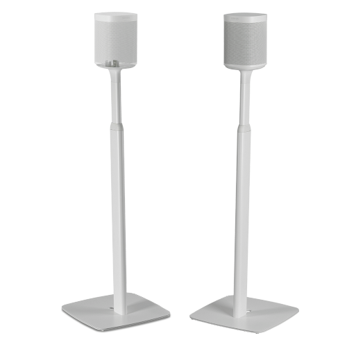White- Pair of Flexson Adjustable Floor Stands for One/Play:1