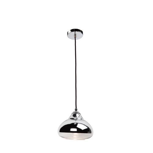 Artcraft - Single Pend Oval Form ch/cl