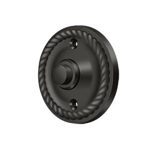 Deltana - Bell Button, Round with Rope - Oil-rubbed Bronze