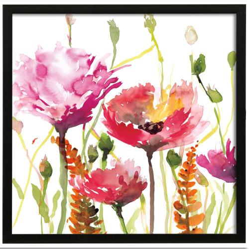 Style Craft - Spring Inflorescence I  Made in USA  Artist Print  Faux Wood Frame Under Glass  Attached Hanging