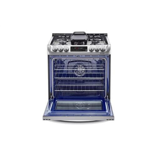 LG - 6.3 cu. ft. Smart wi-fi Enabled Dual Fuel Slide-in Range with ProBake Convection® and EasyClean®
