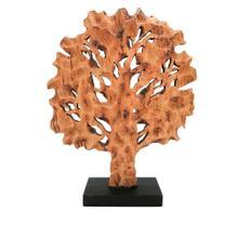 Rustic Wooden Tree Sculpture