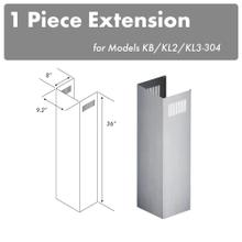 """View Product - ZLINE 1-36"""" Chimney Extension for 9 ft. to 10 ft. Ceilings (1PCEXT-KB/KL2/KL3-304)"""