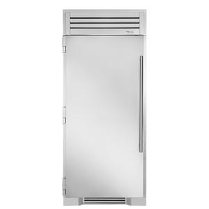 True Residential36 Inch Solid Stainless Door Left Hinge Freezer Column