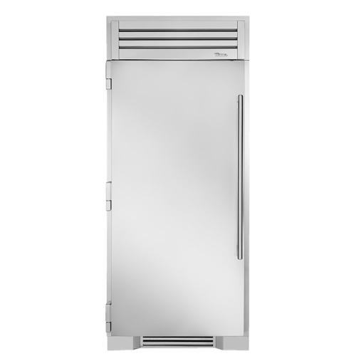 36 Inch Solid Stainless Door Left Hinge Freezer Column