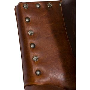 Steamboat Leather Chair, Steamboat Leather Ottoman