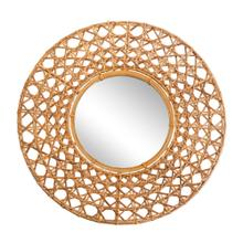 "Mirror 27"" Wicker Tapnigi, Natural"