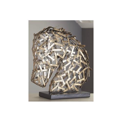 Sculpture Antique Gold Finish