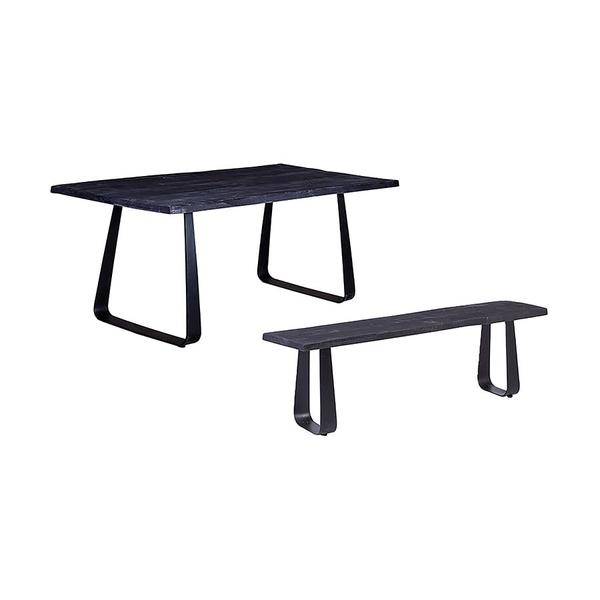 See Details - Crossover Black Dining Tables with different bases, SB-AUT-63B
