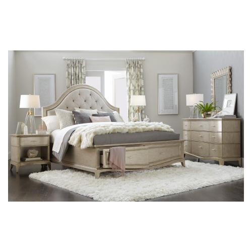 Starlite Upholstered King Panel Bed with Storage