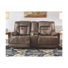 POWER CONSOLE LOVESEAT WTH ADJUSTABLE HEADREST AND LUMBAR