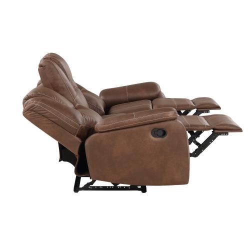 Katrine Manual Motion Sofa, Brown