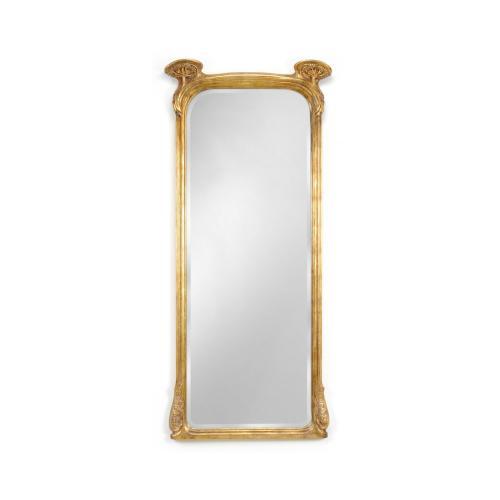 Full length art nouveau gilded mirror