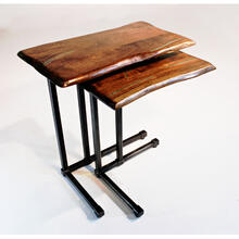 Steel Traditions - Dunwoody End Table With Mesquite Top - (small)