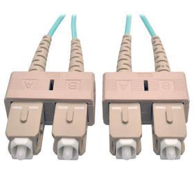 10Gb Duplex Multimode 50/125 OM3 LSZH Fiber Patch Cable (SC/SC) - Aqua, 1M (3 ft.)