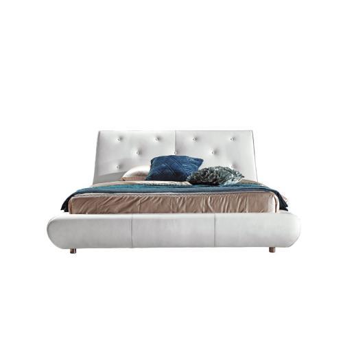Modrest B811 Modern White Bonded Leather Bed