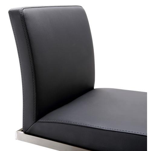 Amalfi Black on Black Steel Barstool