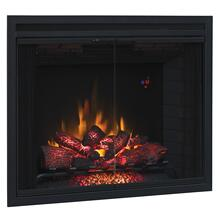 "39"" Traditional Built-In Electric Fireplace Insert with Glass Doors and Mesh Screen, Dual Voltage Option"