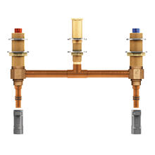 """See Details - Moen Two handle roman tub valve 10"""" centers 1/2"""" PEX with 1/2"""" CPVC adapters"""